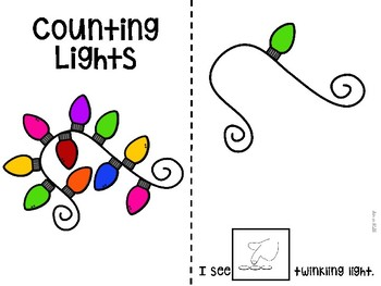 Stringing Lights Counting 1-10 Adapted Book