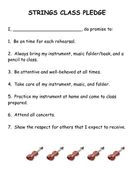 Strings Class Pledge