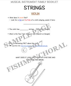 Strings Instrument Family - Digital Booklet