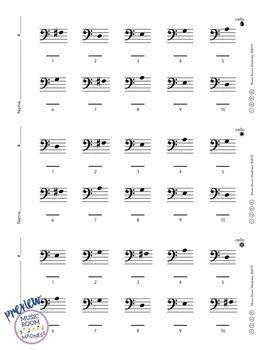 Beginning String Orchestra Letter Note Name Ticket Worksheet BUNDLE