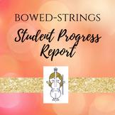 Strings Student Progress Report