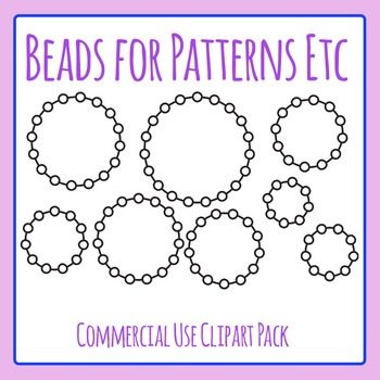 Strings of Blank Beads Clip Art Set for Commercial Use