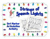 Strings of Speech Lights - Dot Marker Articulation Activity