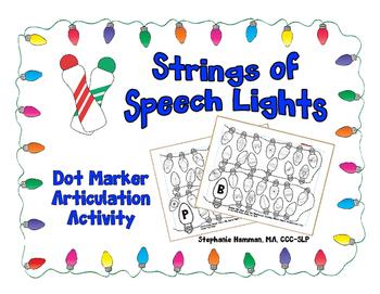 Strings of Speech Lights - Dot Marker Articulation Activity