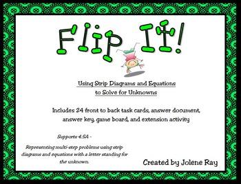 Strip Diagram Flip It: 4th Grade Math TEKS 4.5A