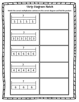 Strip Diagram Match Multiplication