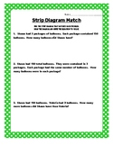 Strip Diagram (Tape Diagram) Matching Activity for TEKS 4.
