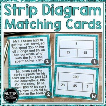Strip Diagram Matching Cards - Tape Diagrams - Bar Models