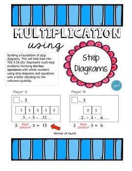 acid rain diagram 4th strip diagram multiplication - dice game by mustard seed ... strip diagram 4th grade multi step math #8