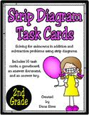 Strip Diagram Task Cards: 2nd Grade (TEKS 2.7C)