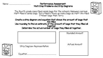 Strip Diagram Word Problem PA 4th Grade TEXAS TEKS
