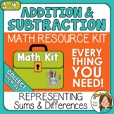 Strip Diagrams, Equations, Number Lines for Addition Subtr