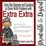 Strip Diagrams, Equations, Word Prob.& Extra Info:TEKS 4.4H; 4.5A; CCSS 4.OA.A.2