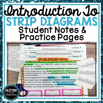 Intro to Strip Diagrams-Student Notes & Practice Pages-Tape Diagrams-Bar Models