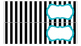 Stripe Labels for 10-Drawer Organizer (Aqua and Black)