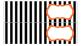 Stripe Labels for 10-Drawer Organizer (Orange and Black)
