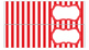 Stripe Labels Bundle for 10-Drawer Organizer (Red and Black)