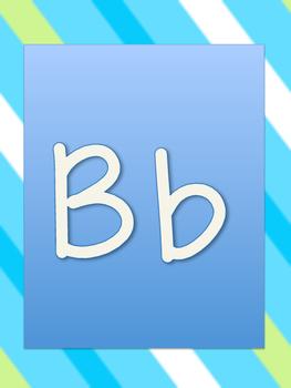Stripe Alphabet Border