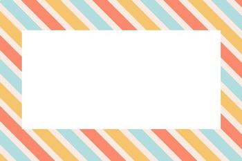 Stripe Blank Editable Label Flashcards