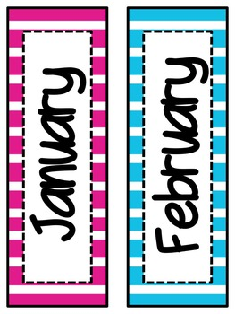 Stripe Calendar Set