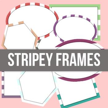 Stripe Frames - HUGE BUNDLE - Commercial Use Allowed