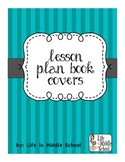 Stripe Lesson Plan Covers