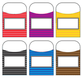 Stripe Library Pockets - Assorted Colors
