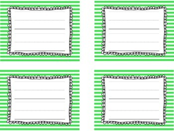 Stripe Locker Name Tags With Two Lines