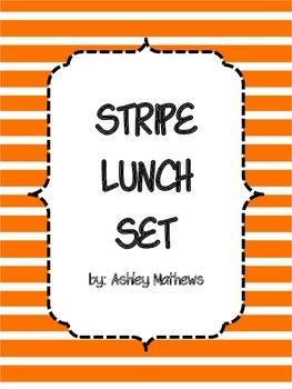 Stripe Lunch Set