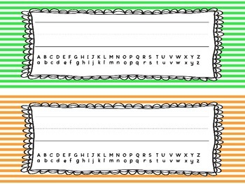 Stripe Name Tags