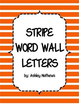 Stripe Word Wall Letter Pennants