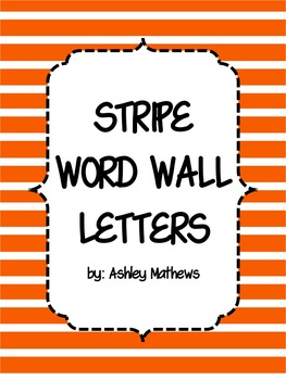 Stripe Word Wall Letter Pennants