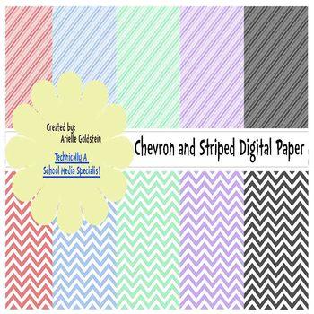 Stripe and Chevron Color Paper
