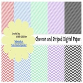 Stripe and Chevron Color Paper