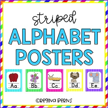 Striped Alphabet Posters