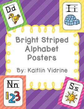Striped Alphabet Posters