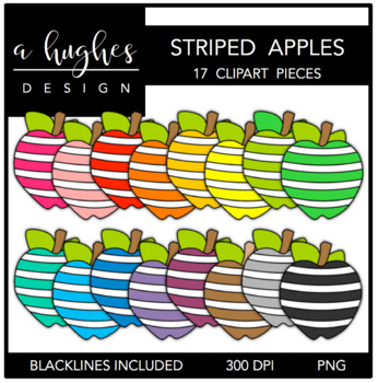 Striped Apples 1 {Graphics for Commercial Use}