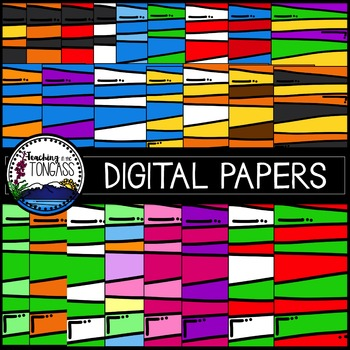 Striped Background Papers Clipart Bundle