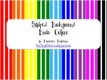 Striped Backgrounds: Basic Colors