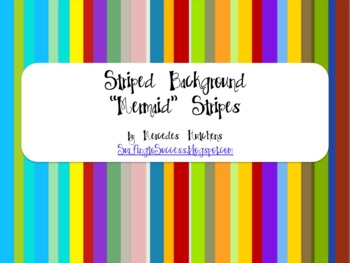 Striped Backgrounds: Mermaid Stripes