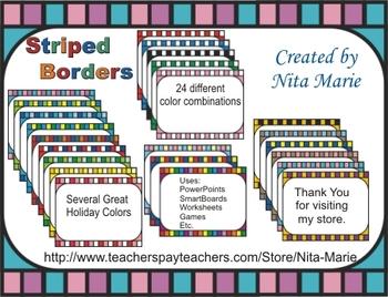Dollar Deal ~ Striped Border by Nita Marie