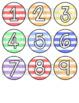 Striped Calendar Numbers