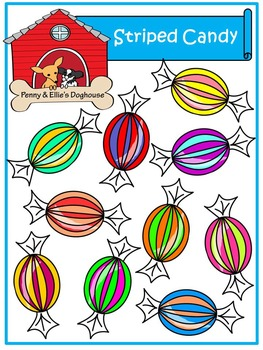 Striped Candy *Penny & Ellie's Doghouse Clipart*