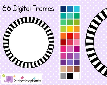 Striped Circle Digital Frames 1