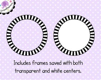 Striped Circle Digital Frames 1