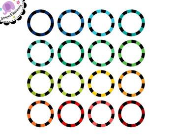 Striped Circle Digital Frames 2