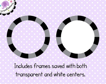 Striped Circle Digital Frames 2