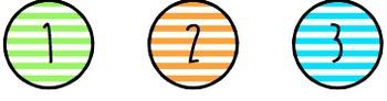 Striped Circle Labels