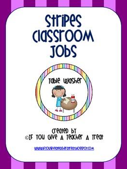 Classroom Jobs- Stripes