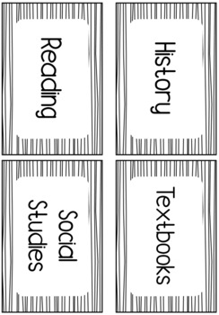 Editable Striped Classroom Labels